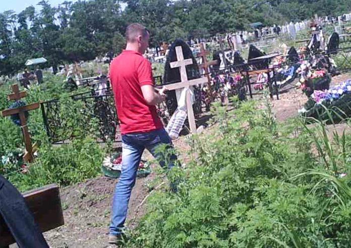 После одной из «разборок» на Тимашевском кладбище