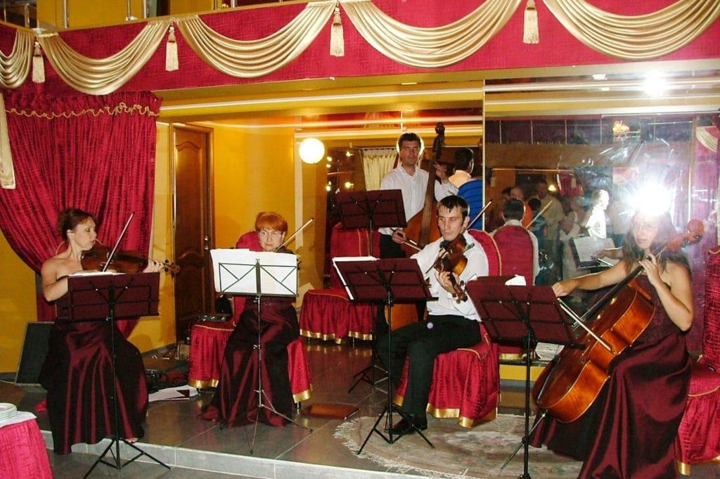 Выступление музыкантов на церемонии вручения премии «ПРОФИль-2005»