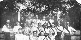 Первая Роговская к-да футболистов, организованная в 1910 году Анатолием Дмитриевым