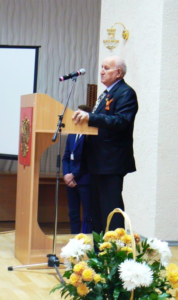 Выступление почетного гражданина города Тимашевска М.А. Ромашины
