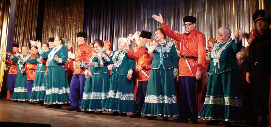 Выступление ветеранов тимашевской сцены