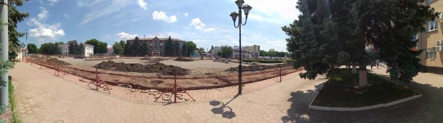 Панорама реконструкции центральной площади в городе Тимашевск