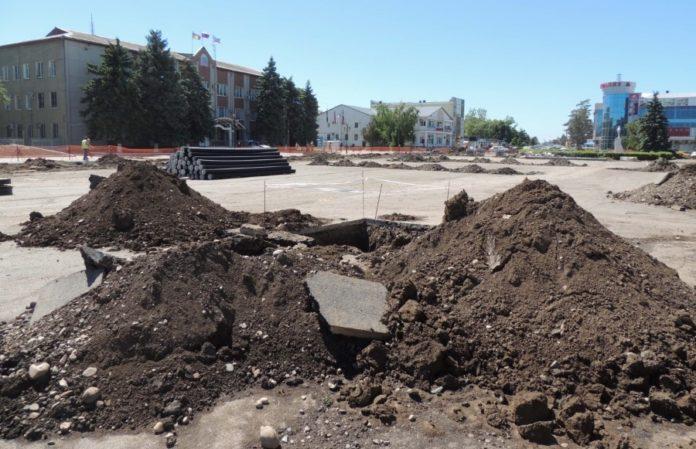 Реконструкция центральной площади города Тимашевска