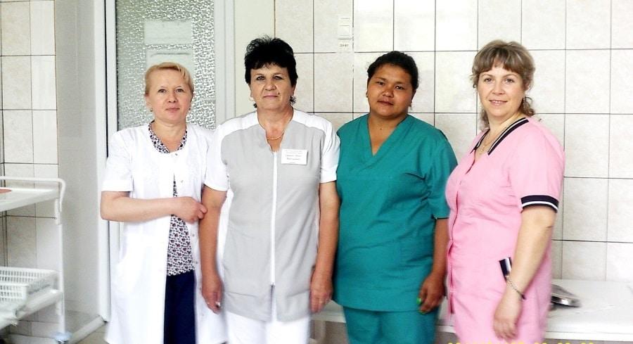 Коллектив среднего медицинского персонала терапевтического отделения