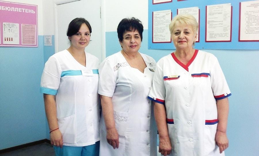 Коллектив отделения переливания крови Тимашевской ЦРБ