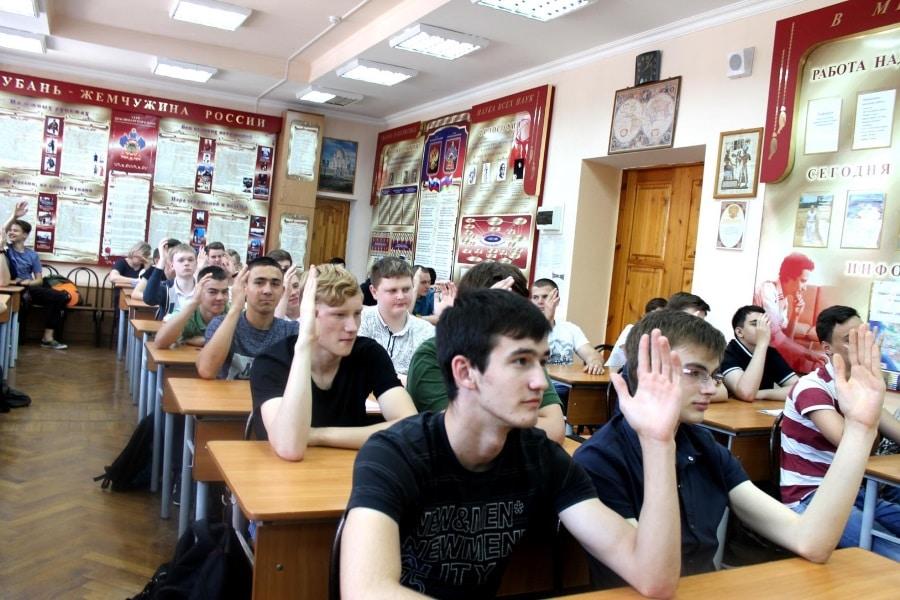 встреча со студентами инженерно-технического учреждения